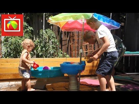 Столик для игр с песком и водой Step 2 Каскад - открываем, собираем и играем