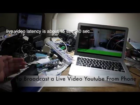 How to Broadcast Live Video From Your Phone to  Youtube