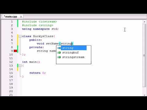 Buckys C++ Programming Tutorials   13   Using Variables in Classes