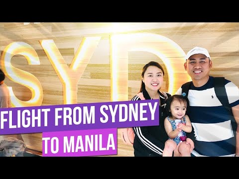 TRAVEL VLOG: Our Flight To Philippines | Sydney To Manila Flight Via Philippine Airlines
