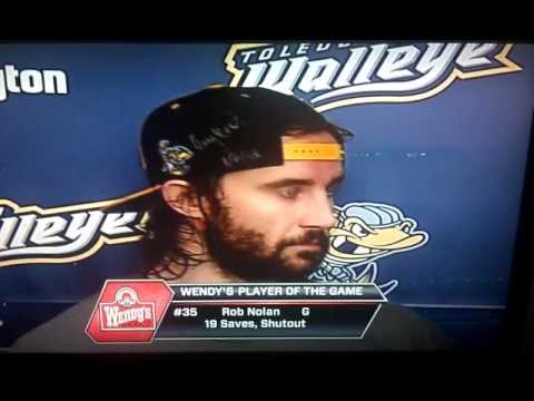 Rob Nolan wears the Section 112 Ultras Flat Bill in the Player of the Game Interview 1/13/2012