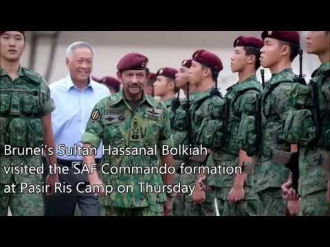 Commandos' prowess on display during Sultan of Brunei's visit