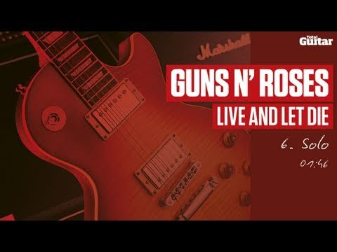 Guitar Lesson: Guns N' Roses 'Live And Let Die' -- Part Six -- Solo (TG214)