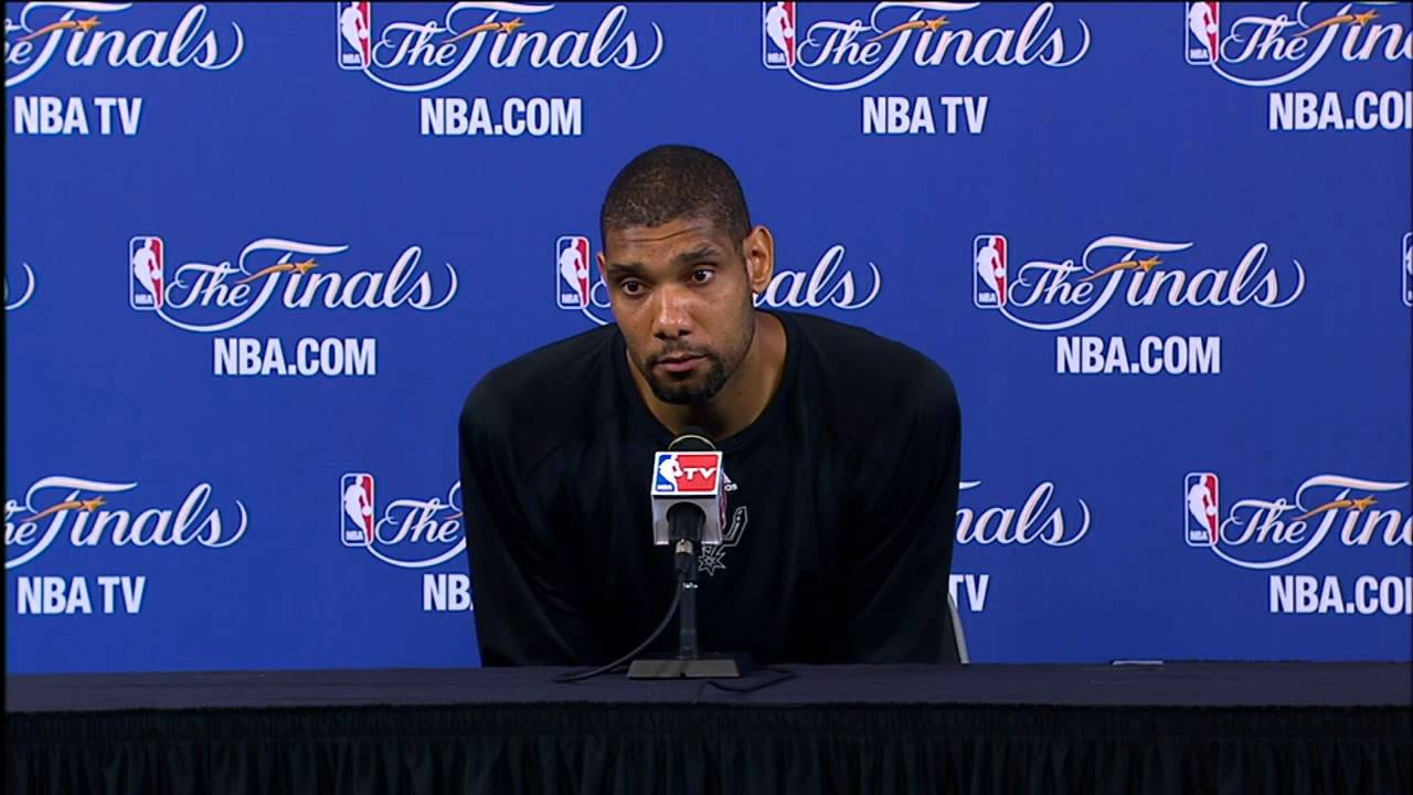 "Tim Duncan NBA Finals Press Conference: ""We'll All Be ..."