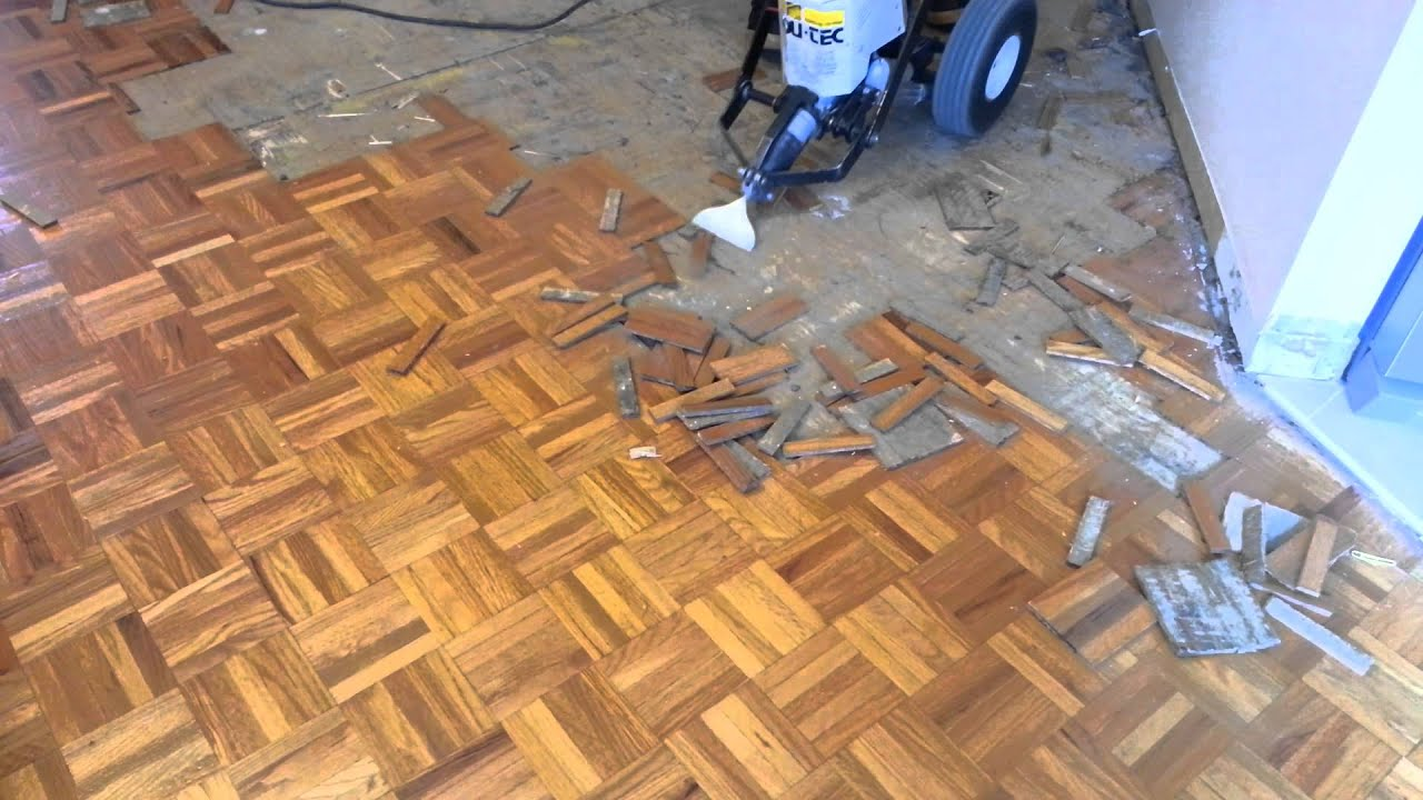 Parquet Hardwood Removal Youtube