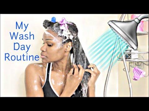 Elise's Natural Hair Wash Routine 2017