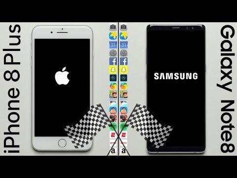 Apple iPhone 8 Plus frente a Samsung Galaxy Note 8, ¿cuál es más rápido?
