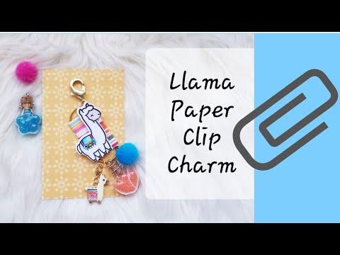 Llama Paper Clip Charm.  Beebeecraft Bling
