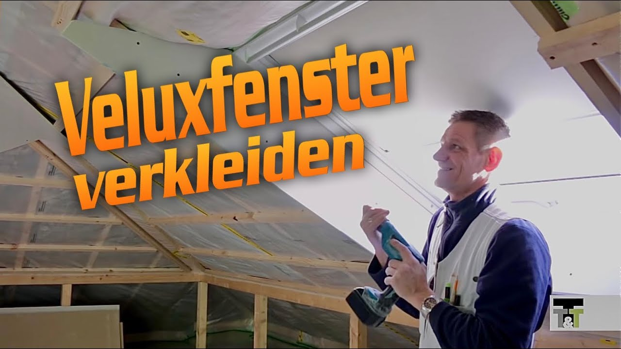 velux fenster verkleiden in trockenbau dachfl chenfenster roof windows lining hobein youtube. Black Bedroom Furniture Sets. Home Design Ideas