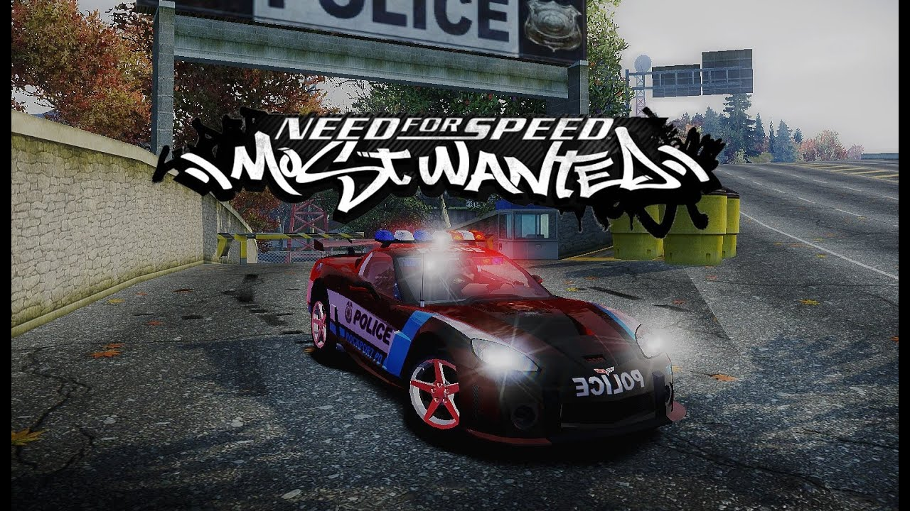 Nfs Most Wanted Police Lights 2012 Hd 1080p Youtube