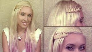 видео Прически с распущенными длинными волосами с плетением