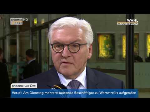 Wahl des zwölften Bundespräsidenten: Frank-Walter Steinmeier gibt Statement am 12.02.2017