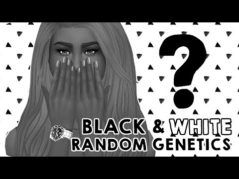 RANDOM GENETICS CHALLENGE - BLACK & WHITE EDITION | Sims 4 Create A Sim