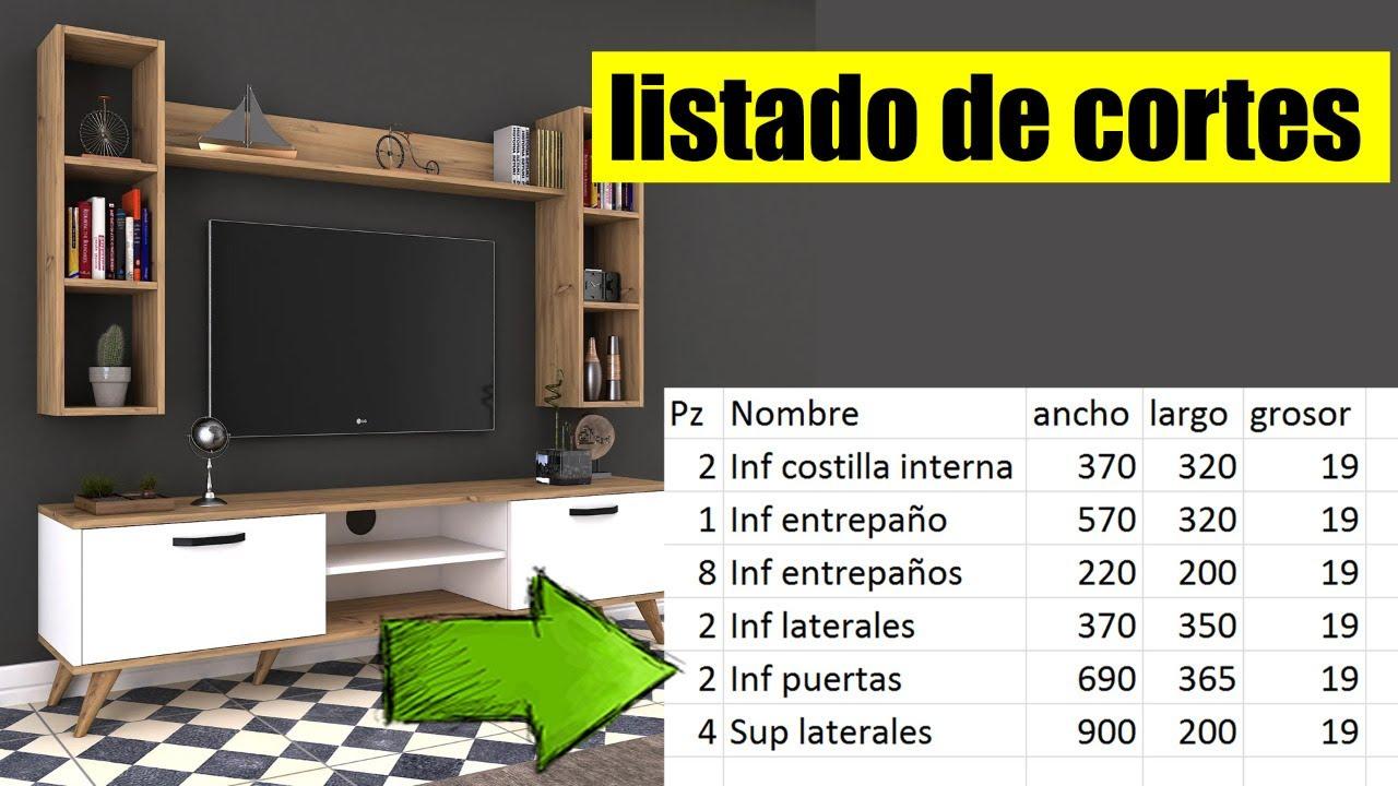 Mini curso Melamina 3D [Clase 03] listado de cortes
