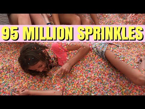 Buried Alive in 95 million Sprinkles At the Museum of Ice Cream