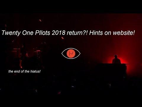 Twenty One Pilots return 2018 - Hints on website