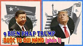 """9 biện pháp Trump bài binh bố trận buộc Trung Quốc """"qui hàng"""" Phần 1"""