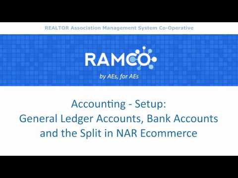Accounting - Setup - General Ledger Accounts, Bank Accounts, and the Split in NAR Ecommerce