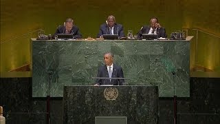 Obama speaks about Ebola at U.N.