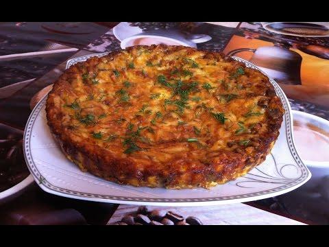 Пирог с Грибами / Заливной пирог / Pie With Mushrooms / Грибной Пирог / Простой Рецепт