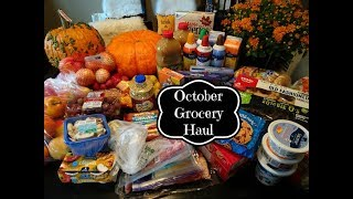 October Fall Inspired Grocery Haul & Meal Plan