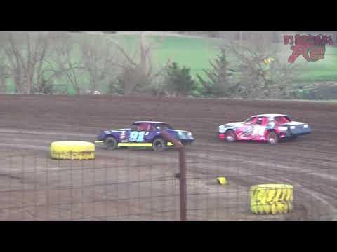 Salina Speedway - 4-27-18 - Make up Stock Car Feature from 4-20-18 Rainout.