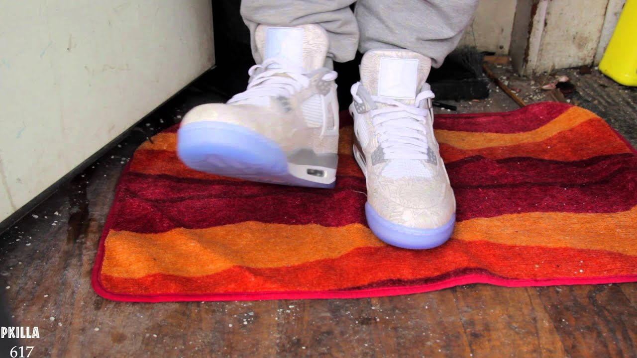 classic fit b09da 420ee Air Jordan 4 Laser On Feet Video and review!