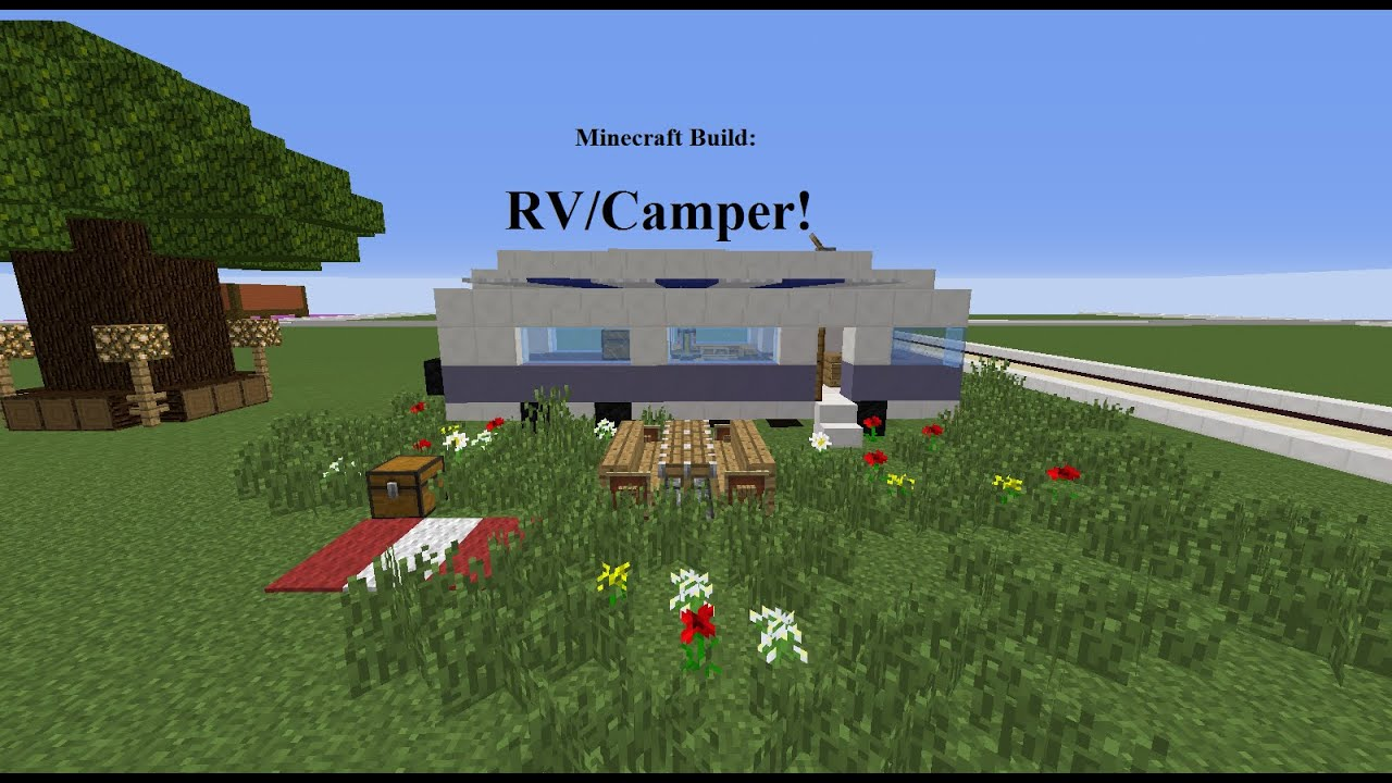 how to build a minecraft camper van