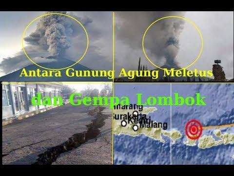 Gunung Agung Meletus dan Tanda Ajaib di Langit Lumpur Lapindo Sidoarjo