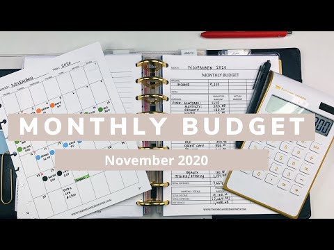 Monthly Budget With Me #budgetplanner #november2020