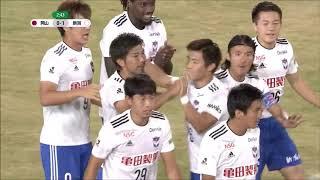 右CKからのボールがゴール前の密集を越え、広瀬 健太(新潟)が下がりな...