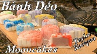 Bánh dẻo trung thu đa sắc rất là xinh đẹp và thơm ngon - Multi-Color Mooncakes - Taylor Recipes