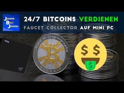 24/7 Bitcoins Verdienen - Faucet Collector Auf Mini PC Laufen Lassen