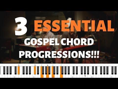 3 BASIC GOSPEL CHORD PROGRESSIONS | Beginners Piano Tutorial