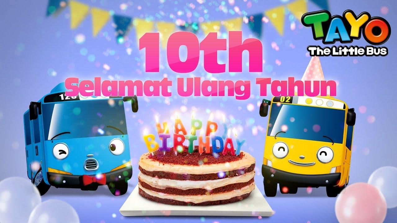 Selamat Ulang Tahun Tayo L Happy Birthday Bahasa Indonesia L Tayo Bus Kecil