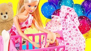 BARBIE & BABY MORNING ROUTINE  - simplekidscrafts