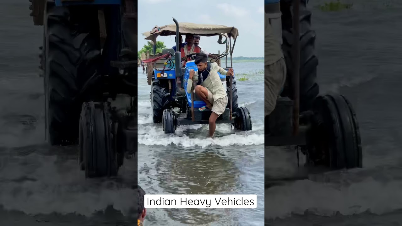 06 | Tractor driving in water #shorts