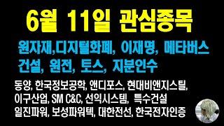 동양, 한국정보공학, 앤디포스, 현대비앤지스틸, 이구산…