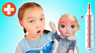 Sick Song Nursery Rhymes For Toddlers - Lili's doll gets sicks