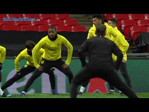Das Abschlusstraining des BVB im Wembley-Stadion