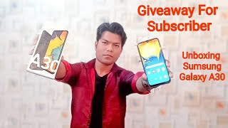 Unboxing Sumsung Galaxy A30 | Giveaway for Subscriber | Mid-range Smartphone