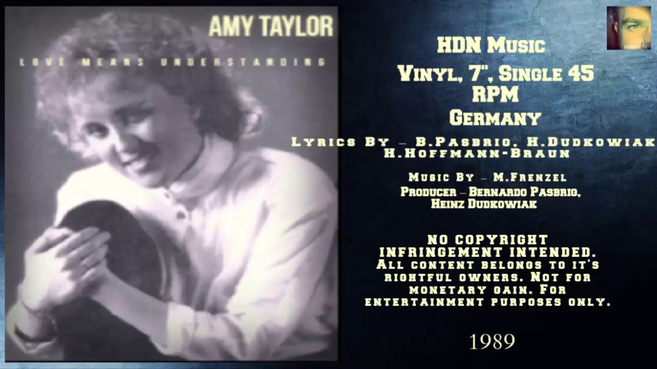 Amy Taylor - Love Means Understanding (1989 My Favorite Collection)