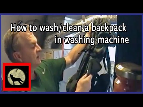 How to wash/clean a backpack in washing machine