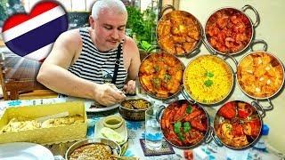 ВКУСНЫЙ Таиланд #36. Вечерний Джомтьен и ВПЕРВЫЕ пробуем еду в индийском ресторане в Паттайе 2020