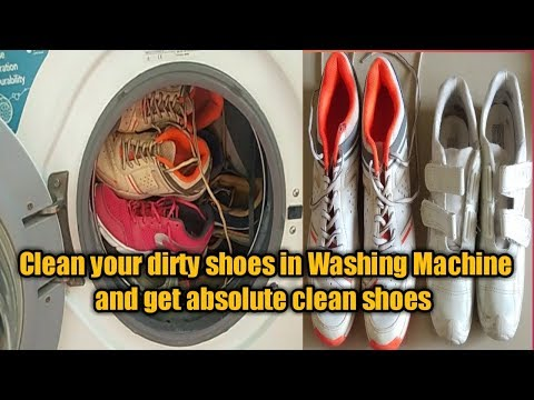 How to clean your dirty shoes in washing machine/How to clean school shoes/sneakers easily