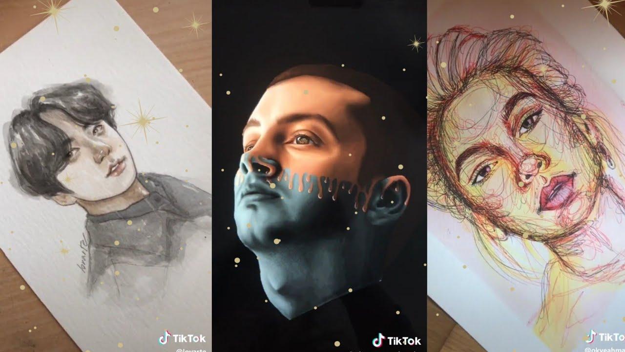 Drawing Painting Compilation Tiktok Youtube