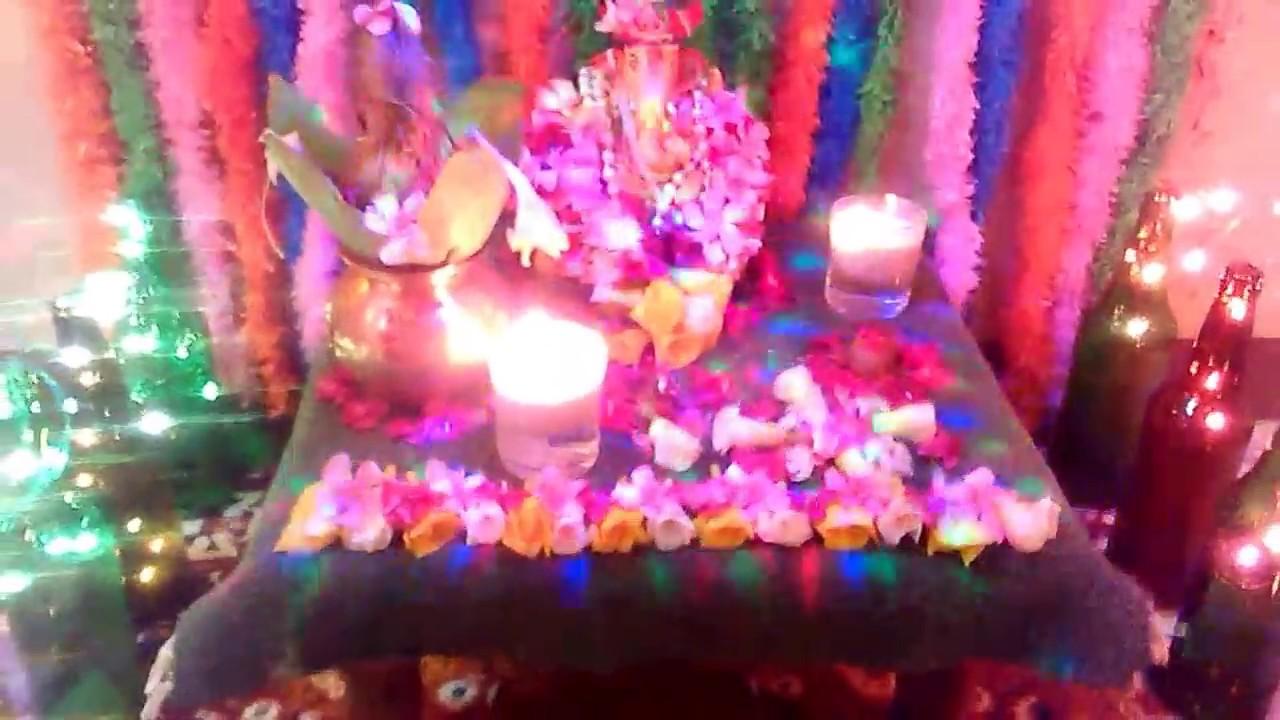 Ganpati Decoration Ideas For Home 2015 Youtube