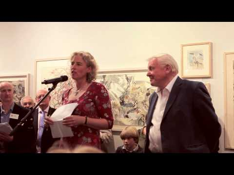 Sir David Attenborough opens the Society of Wildlife Artists 50th Annual Exhibition