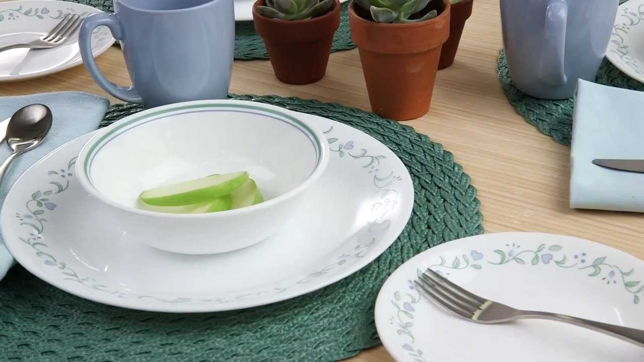 Corelle Country Cottage 16 Piece Dinnerware Set Youtube
