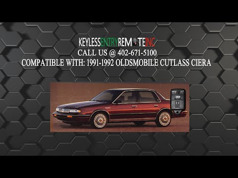 How To Replace Oldsmobile Cutlass Ciera Key Fob Battery 1991 1992